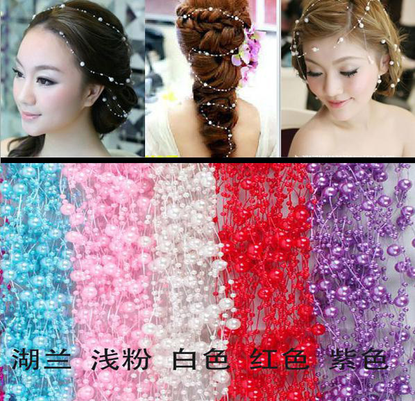 Free Shipping New Korea Pearl tiara bridal hairwear jewelry Stage decoration(China (Mainland))