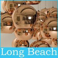 2014 Free Shipping bedroom lamp modern Tom Dixon copper Shade mirror balls lamp glass Pendant Lamp 1pcs Dia 40CM 220V home lamp
