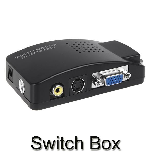 2014 Brand New Universal VGA to TV AV RCA signal adapter usb pc to tv video converter switcher(China (Mainland))