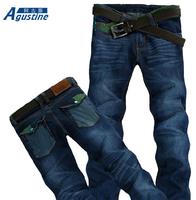 Mens jeans / Spring .Summer. style Korean Slim / zipper fashion s casual cotton pants feet