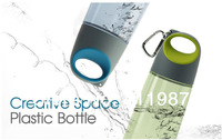 2014 New 4 Colors 480ML PP Drinkware Creative Transparent Space Plastic Water Bottle.A27