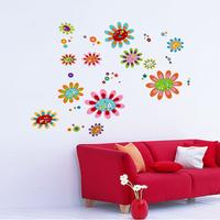 Entranceway stair wall stickers colorful diy flower applique eco-friendly jm8322