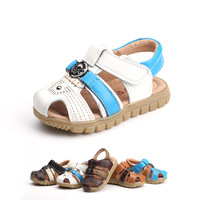 2014 summer new children  shoes  baby shoes boy sandals genuine leather sandals  . Suitable for foot length 12.5-18.5cm