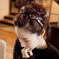 Acrylic bow hair bands leopard print belt slip-resistant hair pin eq01