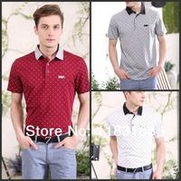Мужская футболка casual short t shirt men clothing short-sleeve t shirt summer & spring senior male 100% cotton