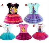 Summer  Frozen Dresses Elsa and Anna Dresses For Girl TuTu Princess Dresses Girls Dress Children Clothing 200pcs