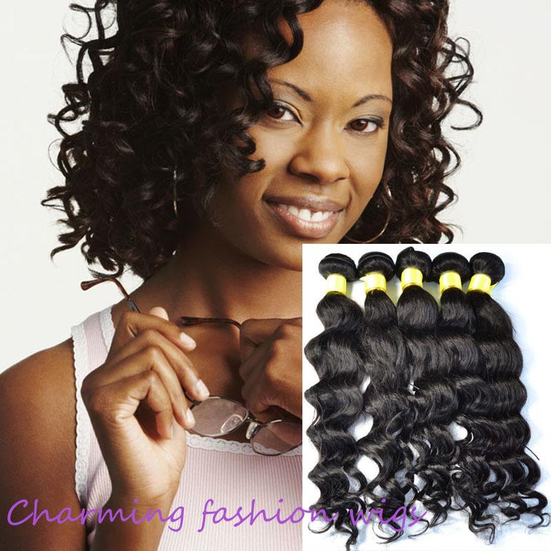 Human Made Hair Brazilian Virgin Weave Weaving Weft Curly 25