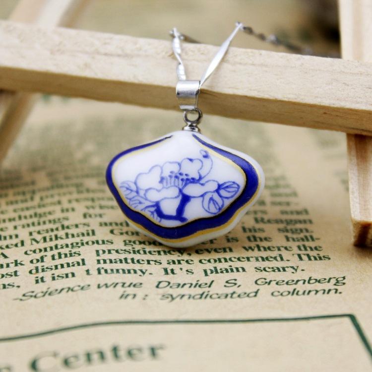 Ceramic jewelry necklace plaid shop(China (Mainland))