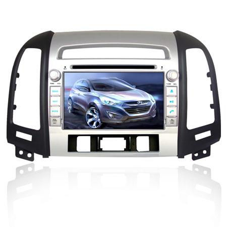 7Inch Touch Screen 2Din Hyundai Santa fe New Car dvd player Radio with GPS Navigations with USB,SD,Bluetooth,Radio,mp3(China (Mainland))