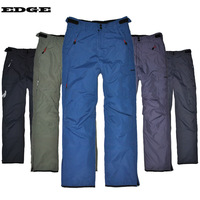 Edge waterproof adhesive thickening thermal Men breathable outdoor skiing pants trousers monoboard
