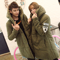 2014 New Arrival Korea Style Thicken Cotton Jacket Double-breasted cotton coat and long sections windbreaker jacket