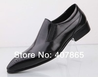 2014 free shipping men Cowhide pointed men's shoes