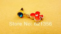 Flower Tassel For Mobile Phone Dust Plug 3.5 General Glug Earphones,Cell Phone Cap Charms,Ear Phone Jewelry,20pcs/lot,F2-38