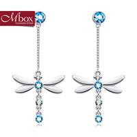 Mbox earring female summer new arrival rhinestone fashion dragonfly