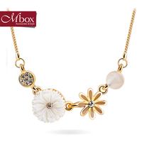 Mbox necklace female short design chain fashion bohemia small fresh voice