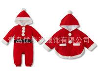 2014winter  baby.Christmas Jumpsuit. Santa shawl. Santa Claus climb clothes. Foreign trade. Santa baby