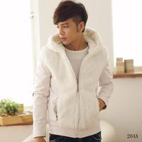 2014 New Arrival Korea Style Thicken Cotton JacketFashion plus velvet warm thick padded cotton jacket hooded cotton jacket