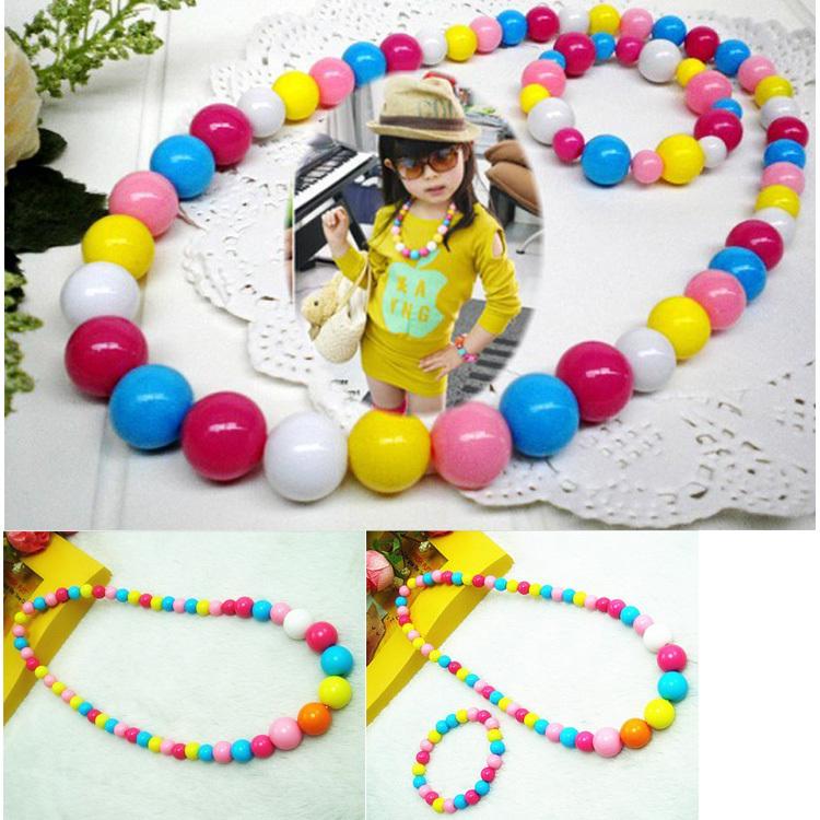 Livre& dropshipping jóias crianças melhores produtos do bebê! Atacado crianças/jóias garoto conjunto handmade redonda colar et-001(China (Mainland))