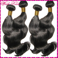"Unprocessed cheap Filipino virgin wavy hair weaves 3 bundles/lot(10""-30"") good wefts,no tangle flow in the wind promotion shop !"