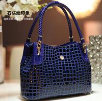 2014 New Fashion Crocodile Pattern Designers Brand Women's Tote Handbags,High Quality Shoulder Bag Woman 14-30