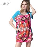 Summer 2014 Fat Girls Desigual Flower Print Clothes Tops Plus Size T Shirt Women T-shirt Free Shipping