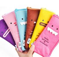 Free shipping fashion cartoon plush multifunction organizer bag for pen/toiletries/mobile phone