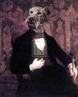 Handicrafts Repro oil painting:Dog Portrait 24x36 inchr