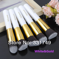 5pcs*BIG Soft Brushes Pro Makeup Set Kits Kabuki cosmetics brusher Tools 1*Precision (Flat + Round + Angled + Tapered ) Brush