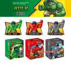 Decool 3pcs Building Bricks Blocks super heroes the avengers big GREEN RED GRAY HULK Action mini Figures minifigures kids Toys(China (Mainland))