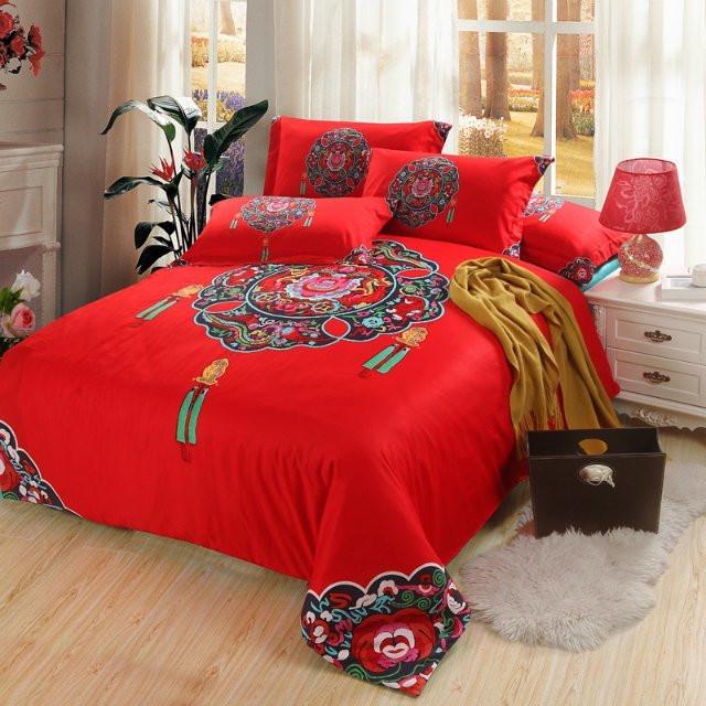 온라인 구매 도매 빨간 침대 플랫 시트 중국에서 빨간 침대 플랫 ...