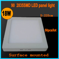 10Pcs / Lot surface installation Led Panel 6W 12W 18W LED Ceilings Down Light CE & RoHs Certification Square Kitchen Lighting