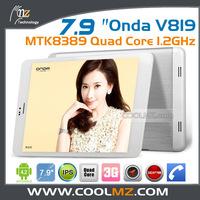Onda V819 3G mini Pad Quad Core 7.9 Inch IPS Android 4.2 Tablet PC 1GB RAM 16GB WIFI OTG GPS Dual Camera