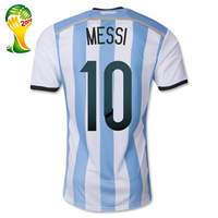 Tevez Aguero Messi jersey 2014 World Cup Argentina kid soccer jerseys shirt & shorts Argentina jersey for kids boy training suit