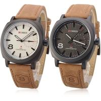 Hot Curren 8139 Chronometer Quartz Fashion Watch, leather strap man sports watches,  men's military casual wristwatch, Wholesale