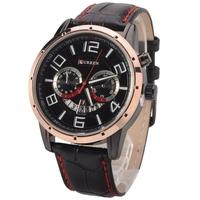 fashion brand Curren 8140 Quartz Leather Calendar Lady Man Casual Wrist Watch, gold circle sports men wristwatches