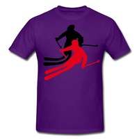 Cool Ski Sportswear Men Shirts Fashion Graphic Printing