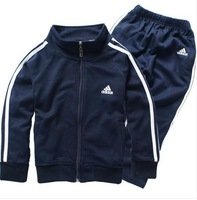 FREE SHIPPING  2014 New Korean Version Of The Influx Of Spring And Autumn Sweater Large Children's Sports Suit