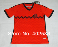 Free shipping! Embroider logo! Good price !2014 world cup style best quality Mexico away red soccer jersey ,football shirt