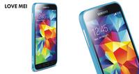 30pieces/lot For Samsung Galaxy S 5 bumper Original LOVE MEI Hippocampal buckle ultra-thin metal bumper