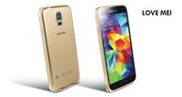 100pieces/lot For Samsung Galaxy S 5 bumper Original LOVE MEI Hippocampal buckle ultra-thin metal bumper