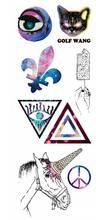 50 folhas de Item de moda geométrica impermeável tatuagens temporárias tatuagem para venda(China (Mainland))