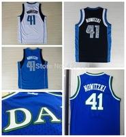 Retro Jerseys, Dallas #41 Dirk Nowitzki Dark Blue New  Rev 30 Embroidery Lgos Basketball jersey New Arrival!!!