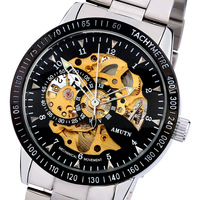 Double faced cutout fully-automatic mechanical watch hot revealed at men's watch trend personality male watches