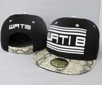 Cheap Wati B snapback hats & hat WATIB black white snakeskin mens womens designer baseball caps without MOQ !