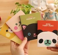 FREE SHIPPING 1LOT OF10pcs/korean kawaii stationery animal home stickly ,message slip , notebook,memopad