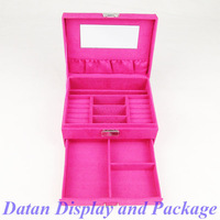 Wholesale High Quality Pink Velvet Bracelet Earring Necklace Ring Jewellery Collection Box Case Cosmetic Box