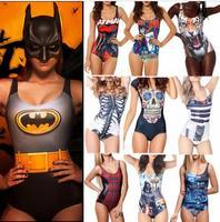 Bikini S Bodysuit I AM THE BATMAN DIFFERENTLY SANE POISON IVYJOKER'S REVENGE SWIMSUIT Digital Printing Swimwear Women