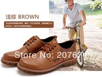 2014  High Quality Shoe Big Size Cowhide Genuine Leather Oxford Men Shoes Beef tendon bottom wear men's leather shoes