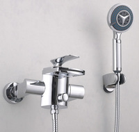 Contemporary Wall Mounted Bathroom Basin& sink Good Quality Chrome With Shower Handle ML-025 Mixer Tap Faucet