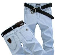 `Spring Summer style Korean Slim / zipper men's jeans / fashion s casual cotton pants feet